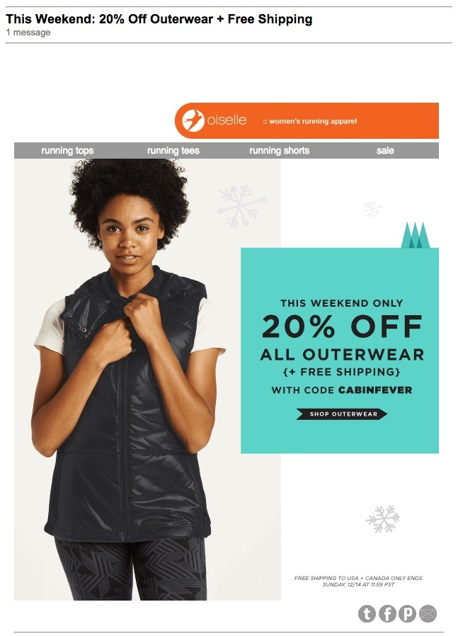 using email for limited time sales
