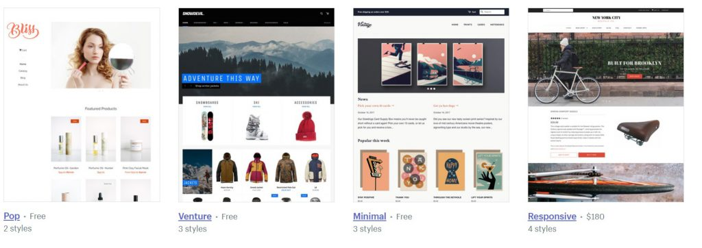 shopify trending themes