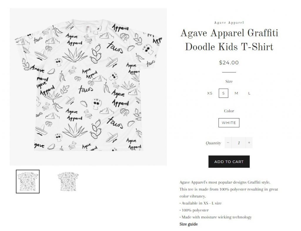 dropshipping branded apparel example
