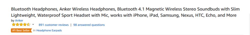Bluetooth headphones description examples