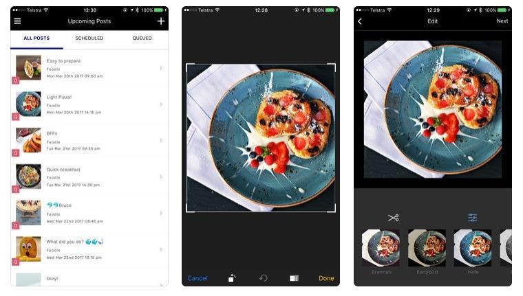 screenshots of Schedugram instagram tools