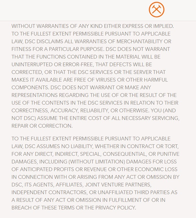 example of terms and conditions for ecommerce