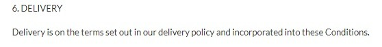 delivery point in terms and conditions