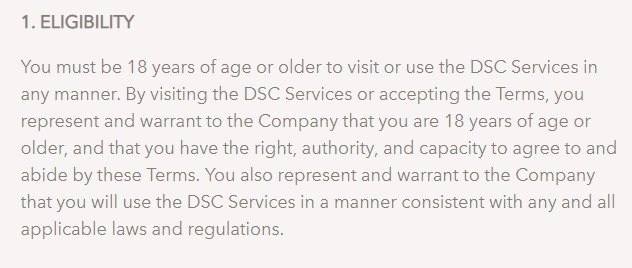 dollar shave club terms and conditions