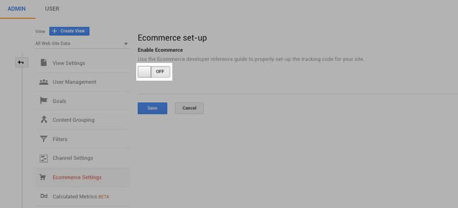 setting up eCommerce analytics tracking for shopify
