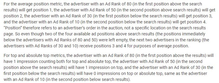 how google determines how ads show example