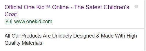 example of search ad