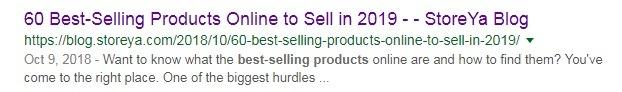 example of good blog content meta description