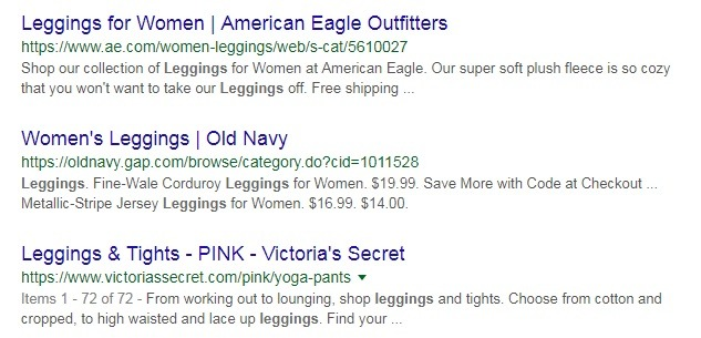 example of good product category meta descriptions