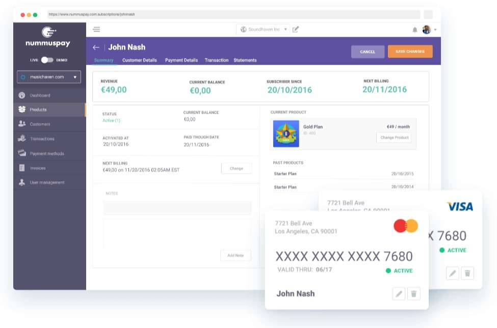Nummuspay tool for online payments