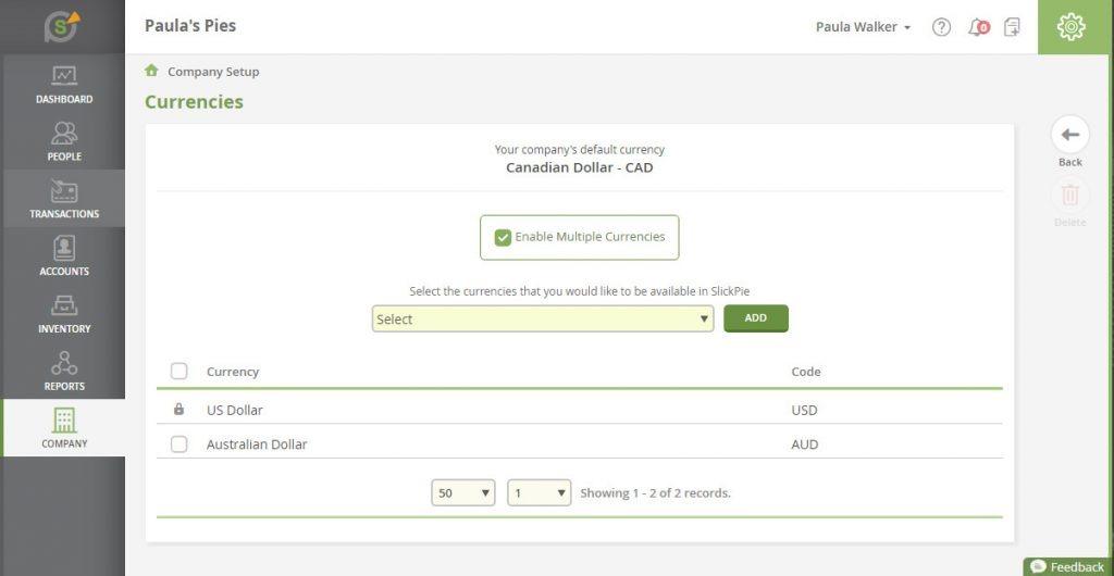 SlickPie accounting tool