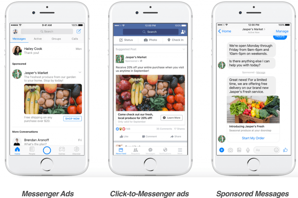 example of click to messenger ads facebook