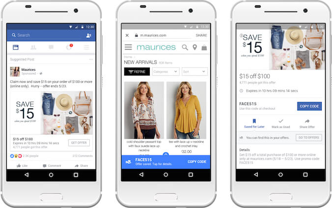 facebook offer ad examples