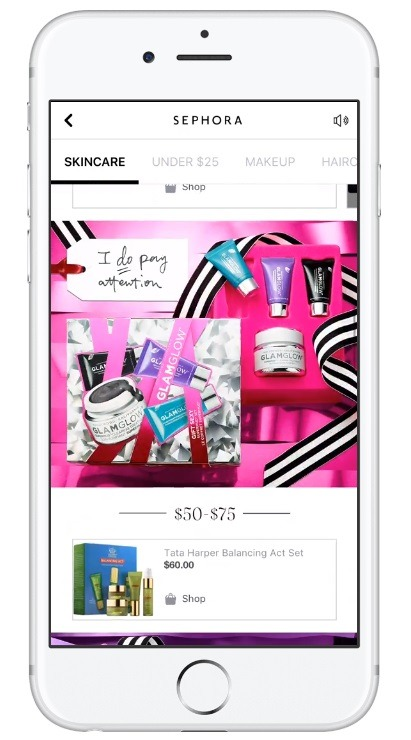 example of facebook canvas ad for online stores
