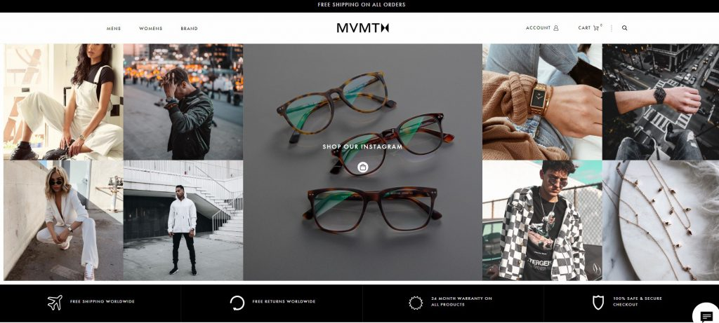 eCommerce example business MVMT watches