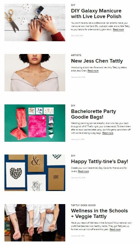 ecommerce blog example tattly
