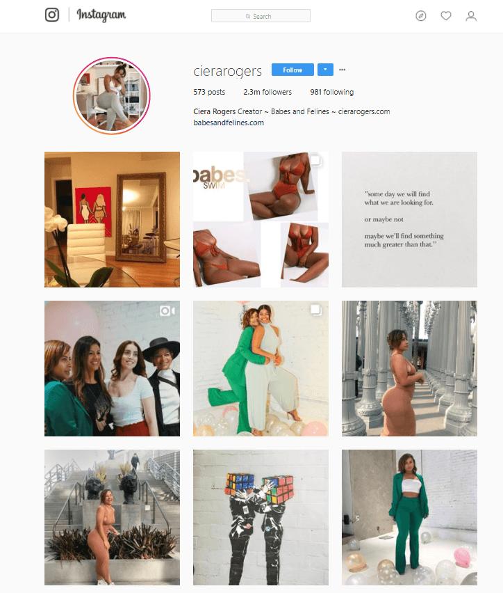 example of entrepreneur personal instagram