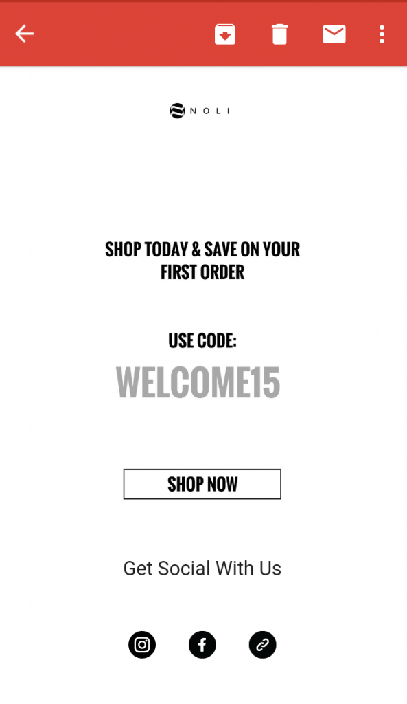 emailer example for yoga store