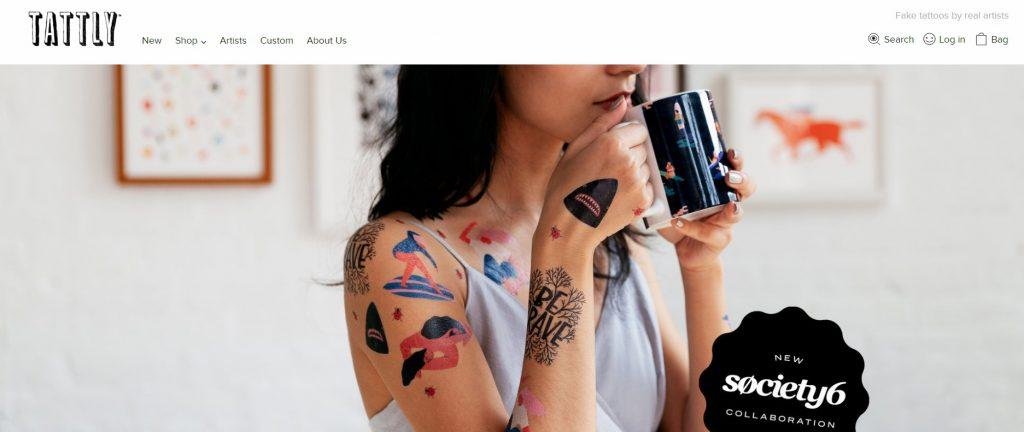 temporary tattoo store Tattly