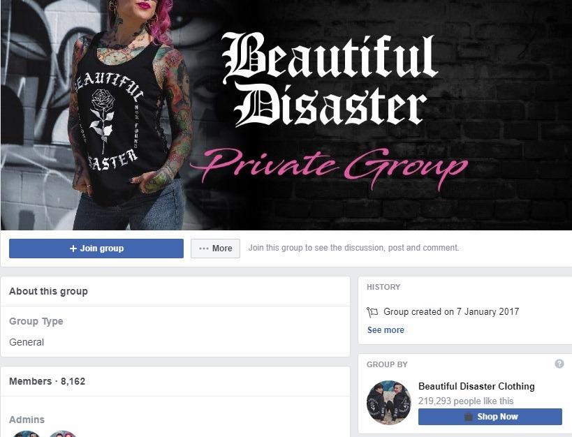 Private group beautiful disaster