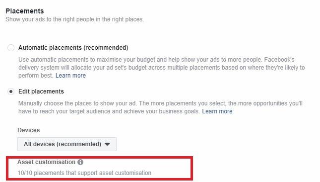 Facebook asset customize tool 2