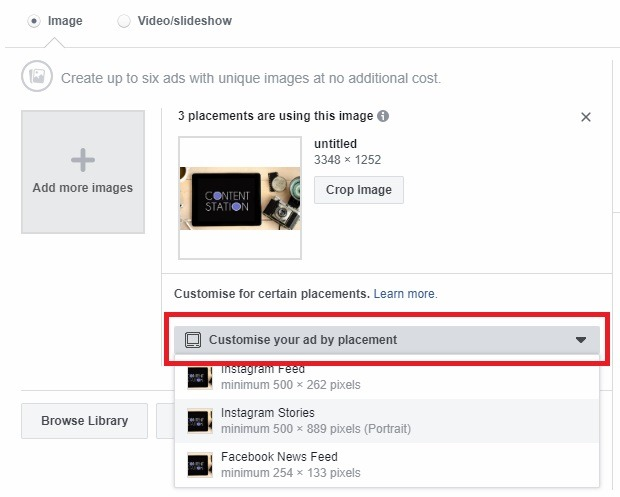 Facebook asset customize tool 3