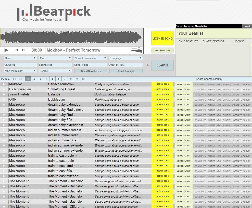 beatpick music downloads