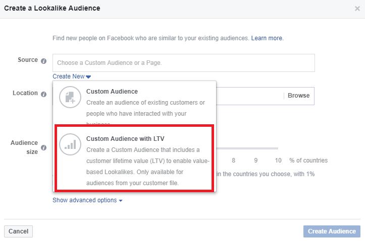 create value based custom audience