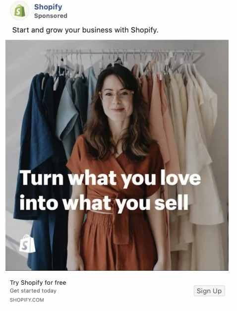 facebook ads for online store example