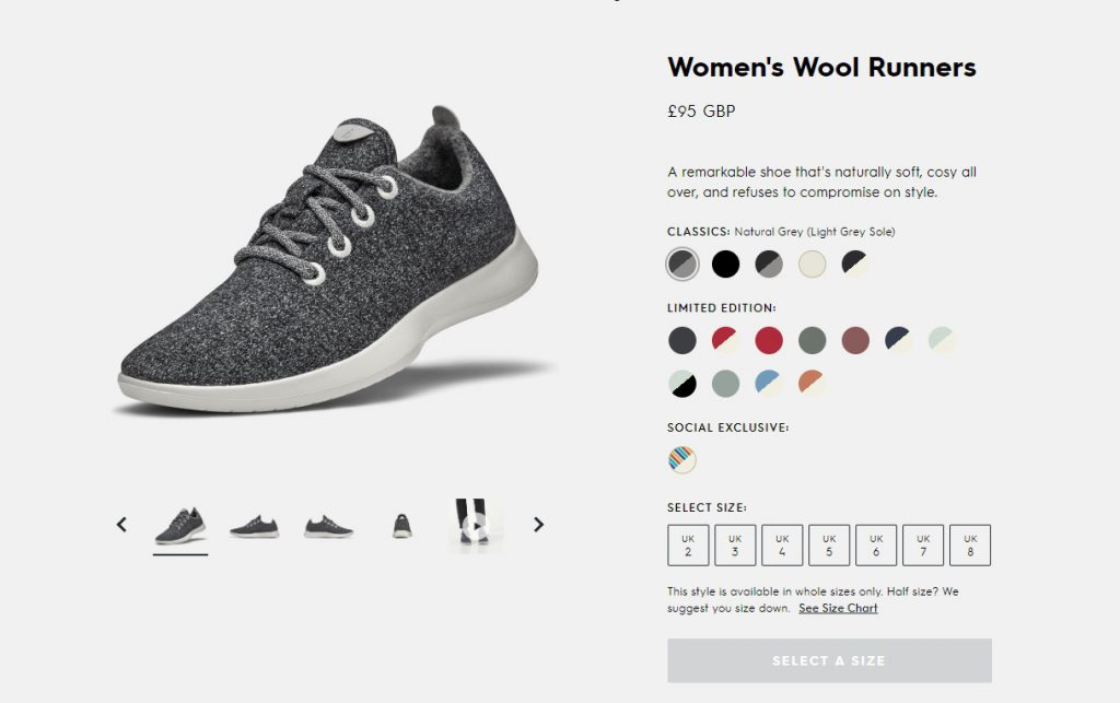 All birds good product page example