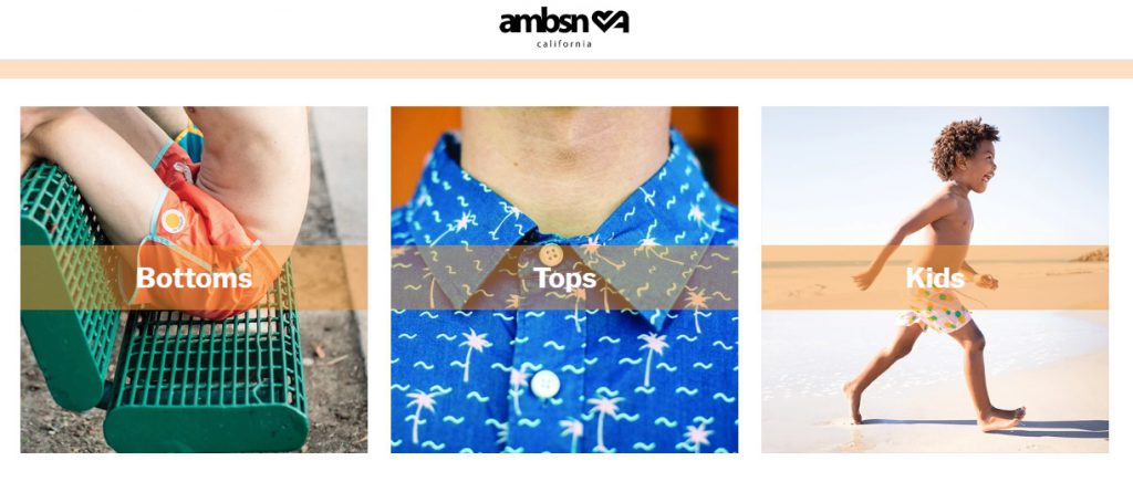ambsn store home page example