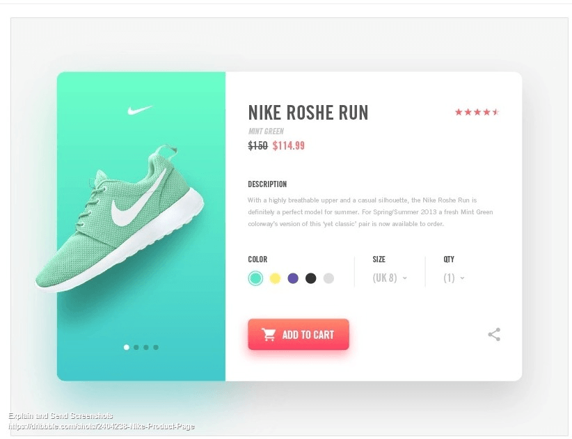 product page example