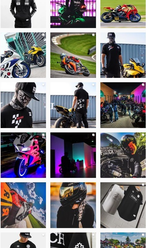 good example of ecommerce instagram ride rich