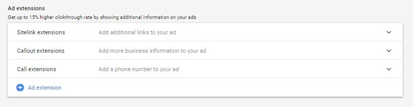 Add Your Google Ads Extensions