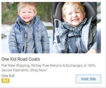 Display Remarketing example eCommerce