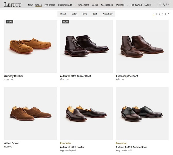 Leftfoot popular product category mens shoes