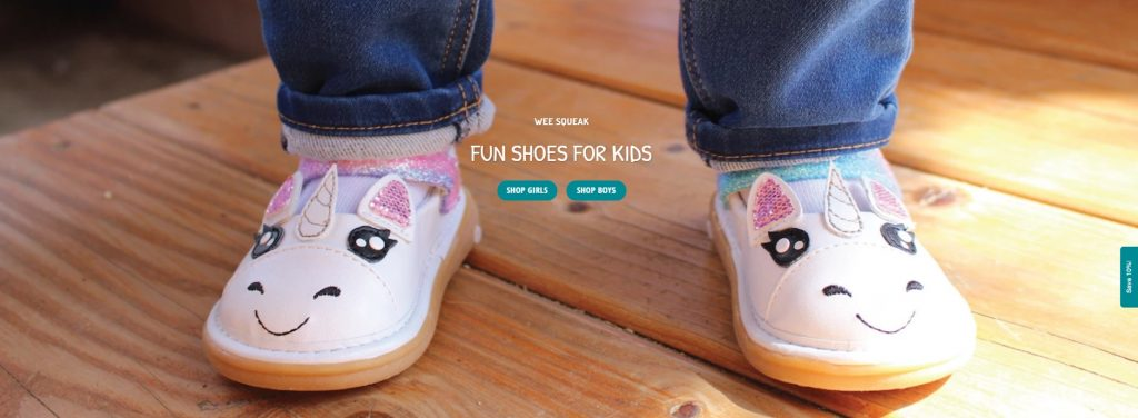 Wee squeak shopify store example