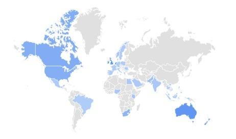dumbells trending product covid 2020 per region