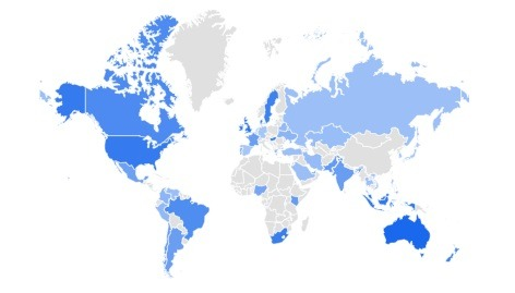 hand sanitizer trending product covid 2020 per region
