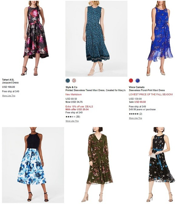 macys floral dress category for fall
