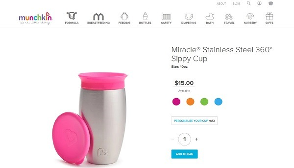 plastic free sippy cups on munchkin
