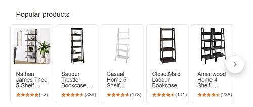 popular ladder bookshelves on google shopping