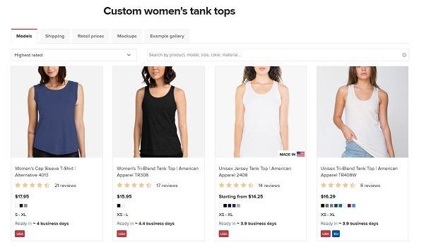 printful tank tops