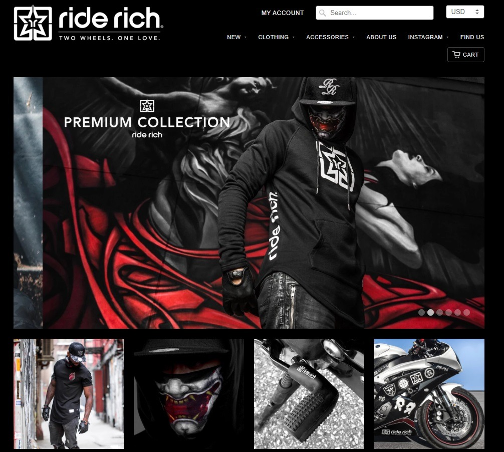 ride rich apparel store example