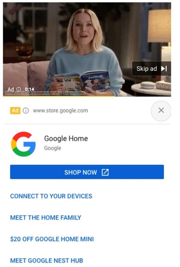 google shopping ads in youtube
