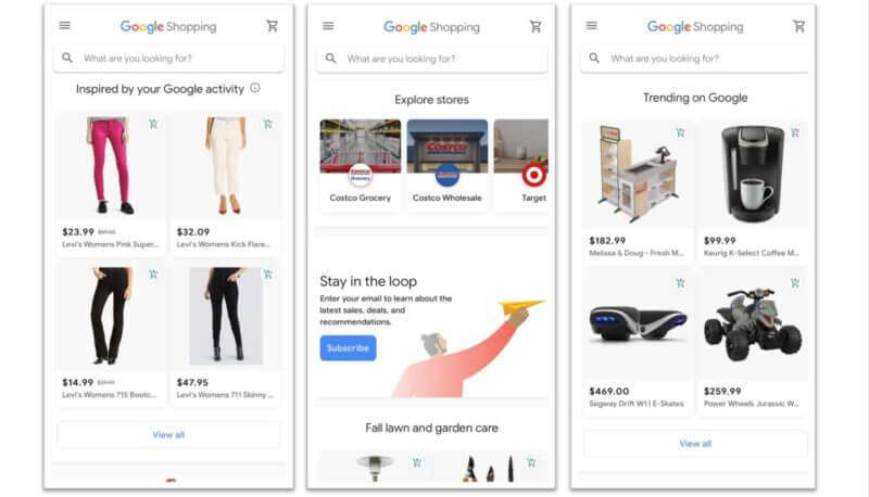 New Destinations for Google Shopping Actions