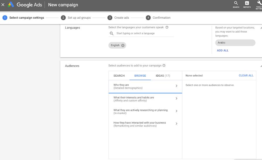 New Google Ads Targeting Options