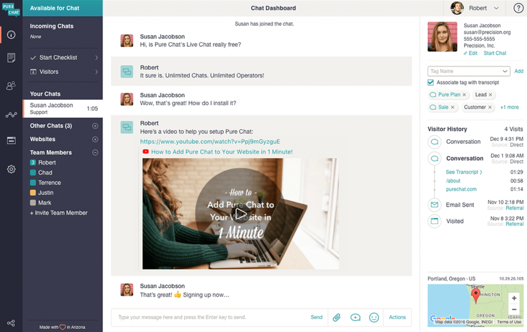Shopify's Pure Chat app