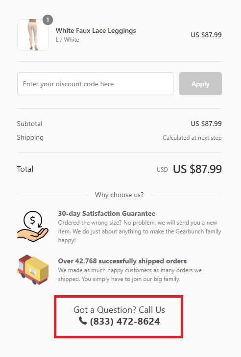 gearbunch optimized checkout page example