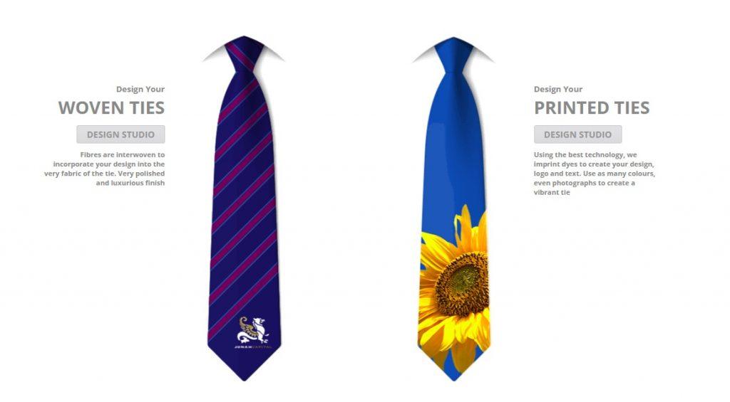 custom tie store example